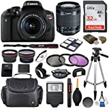 Canon EOS Rebel T6i DSLR Camera with EF-S 18-55mm f/3.5-5.6 IS II Lens & SanDisk Ultra 32GB Class 10 Memory Card + Accessory Bundle