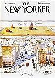 Poster 50 x 70 cm: Der New Yorker von Steinberg - hochwertiger Kunstdruck, neues Kunstposter