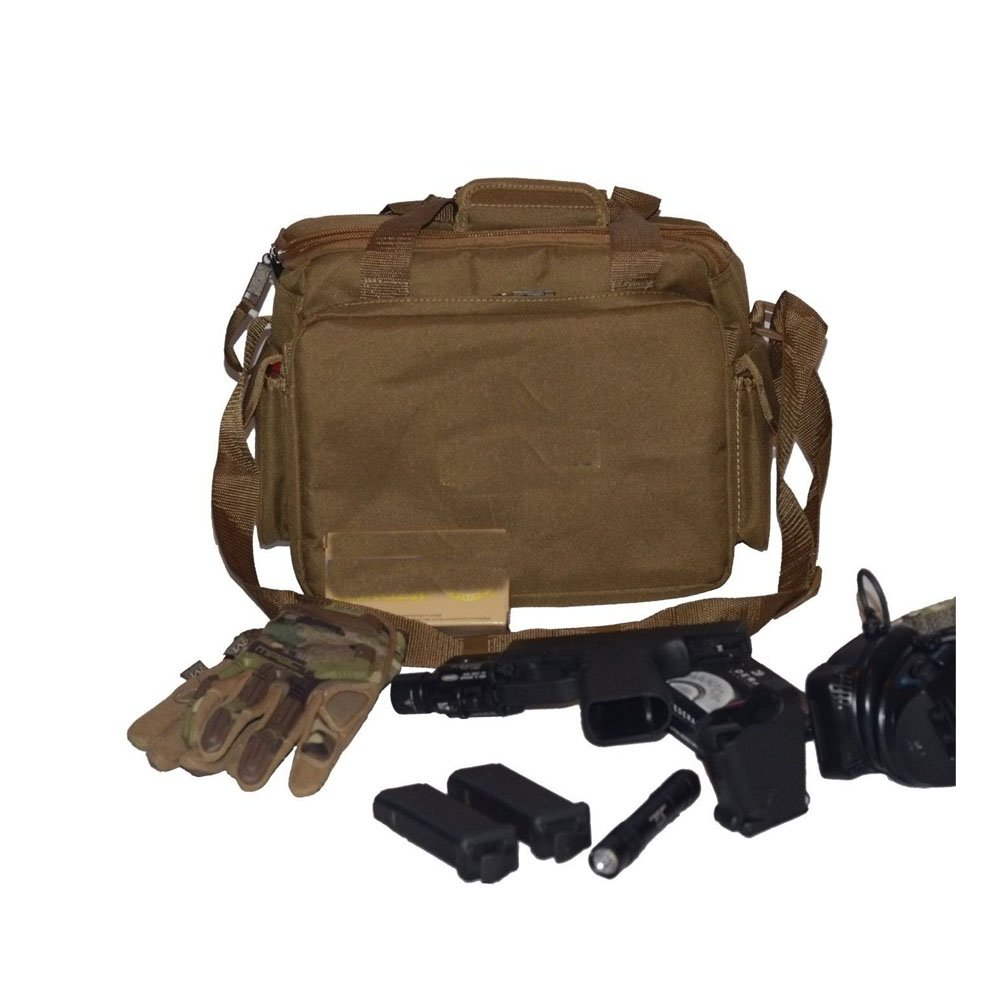 Tactical Gun Bag Shooting Range Ready Pistol Ammo Accessory Storage U.S.A Seller by Unknown