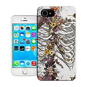 LarryToliver You deserve to have Skeleton skull head arts map sprouted roots around ribcage and grew flowers For Iphone 6 cases with 4.7 inch