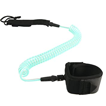HOGAR AMO 7 mm 10 ft aufgerollten TPU Tabla de Surf Leash Remo Seguridad cuerda Remo