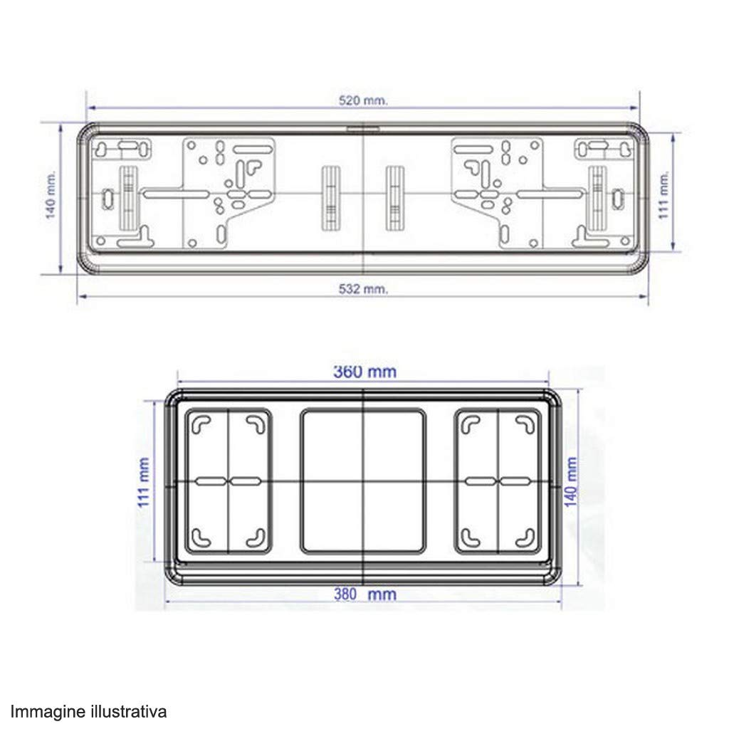 Kit Porta Targa Auto Cromato Anteriore Posteriore DFC Mercedes-Benz AMG GT Roadster