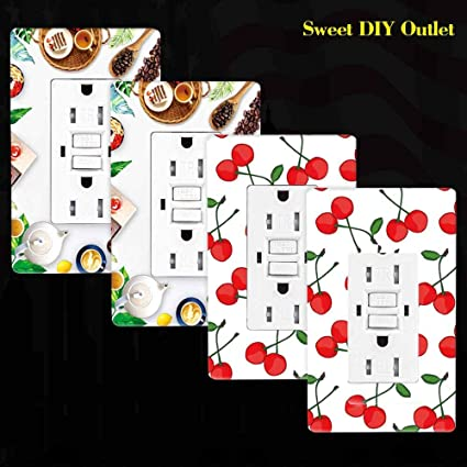 gfci outlet receptacle, szict ul listed diy art wall plate 15a dual