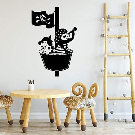 WWYJN Cute and Lovely Boat Art Stickers Waterproof Wall Stickers ...