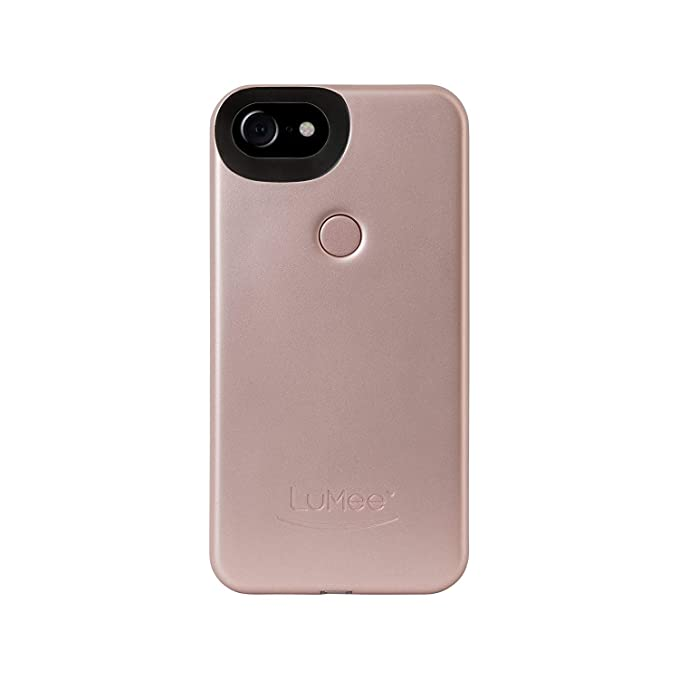 check out 2583c 09d85 LuMee Two Selfie Phone Case, Rose Matte | LED Lighting, Variable Dimmer |  Shock Absorption, Bumper Case | iPhone 8 / iPhone 7 / iPhone 6s / iPhone 6