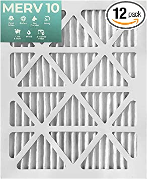 3 PACK Glasfloss ZL 20x24x2 MERV 10 Pleated 2 Inch Air Filters for AC and Furnace Actual Size 19-3//8 x 23-3//8 x 1-3//4