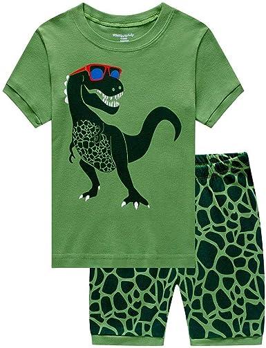Toddle Boys Pyjamas Set Dinosaur Pjs for Boy Winter Nightwear Kids Pyjama Long Sleeve Sleepwear Clothes 2 Pieces 100/% Cotton Age 1-7 Years