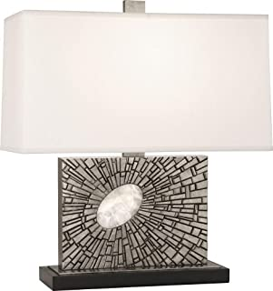 product image for Robert Abbey S416 Goliath - One Light Table Lamp, Shade Options: Pearl Dupioni Silk
