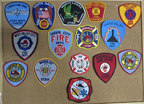 UTAH FIRE/RESCUE DEPARTMENT PATCHES! SET TWO! LOT OF 15!