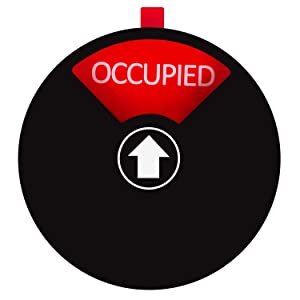 Privacy Sign for Offices or Homes - Do Not Disturb Sign, Restroom Sign, Office Sign, Conference Sign, Vacant Sign, Occupied Sign - Tells Whether Rooms are Vacant or Occupied, 5 inch, Black