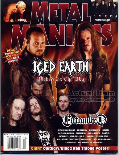 (Metal Maniacs Magazine ICED EARTH Shining OBITUARY Paradise Lost BLOOD RED THRONE Fall 2007 C (Metal Maniacs Magazine))