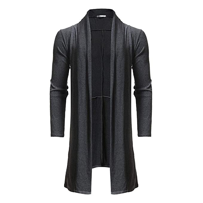 Amazon.com: Forthery Mens Trench Coat Lightweight Shawl Knitted Jacket Cardigan Newest: Clothing