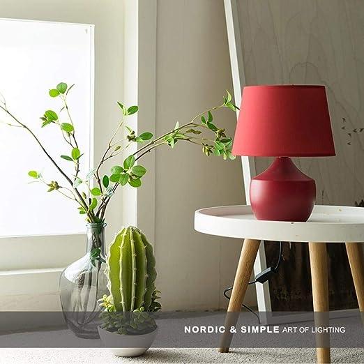 Latas rojas lámpara de mesa dormitorio mesita de noche creativa ...