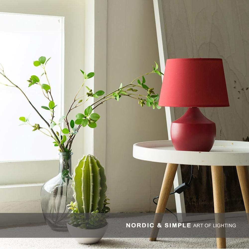 Latas rojas lámpara de mesa dormitorio mesita de noche ...