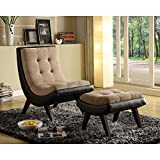 Chelsea Lane Lashay Lounge Chair & Ottoman For Sale