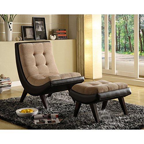 Chelsea Lane Lashay Lounge Chair & Ottoman