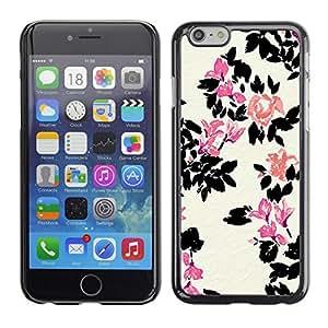 PC/Aluminum Funda Carcasa protectora para Apple Iphone 6 White Flower Pink Minimalist / JUSTGO PHONE PROTECTOR
