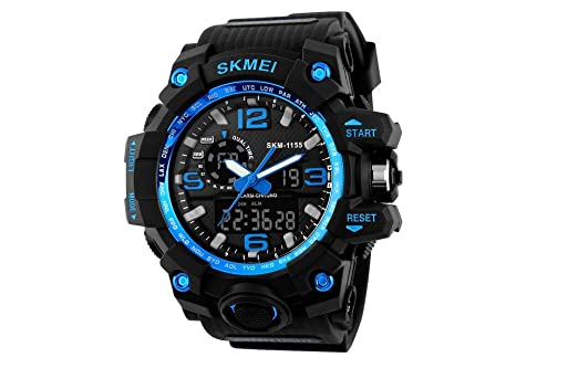 Relojes de Hombre 2018 Reloj LED Sport Water Resistant Watch Digital Men RE0103