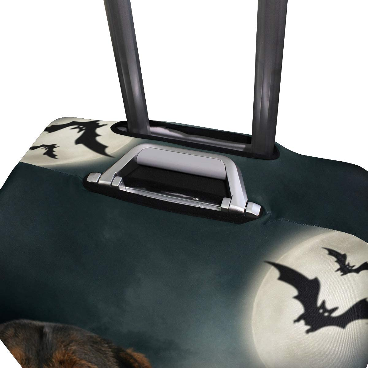 ALAZA Luggage Protector,Dog Dachshund In Halloween Decoration Elastic Travel Luggage Suitcase Cover,Washable and Durable Anti-Scratch Case Protective Cover for 18-32 Inches