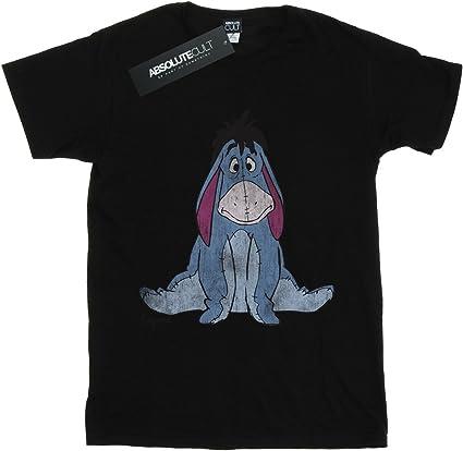 Disney para mujer Winnie Pooh Clásico Eeyore Lavado Boyfriend Fit T-Shirt