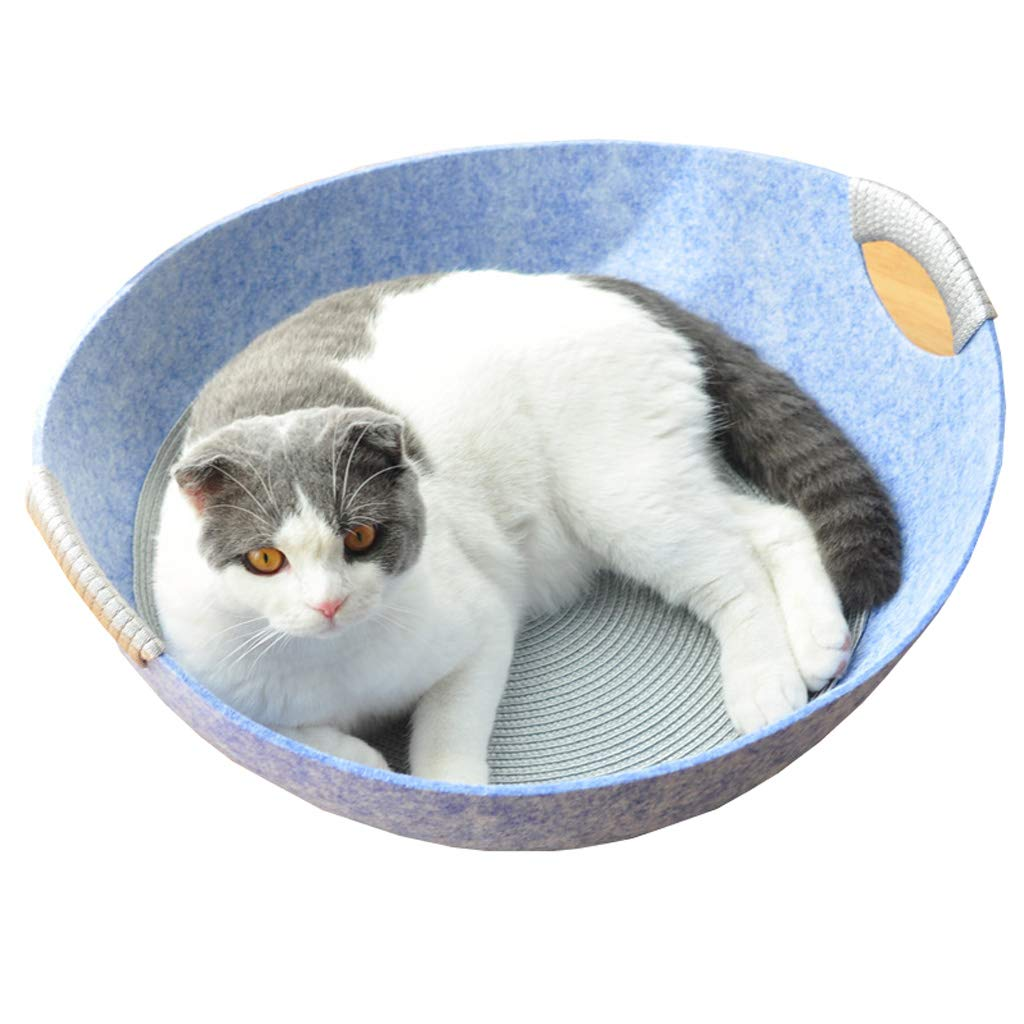 bluee Pet Bed Incl. Cushion Usable as Blanket for Small Dogs Cat Mat Cozy & Warm Washable Cats Beds (color   bluee)