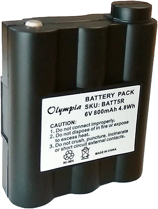 Replacement Battery for Midland GXT-850 800mAh, 6V, NIMH Replacement Battery for Midland Two-Way Radio
