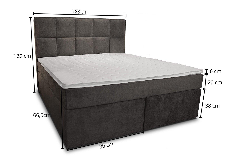 Topper 180x200 Boxspring.Dream American Box Spring Bed 180 X 200 Cm Cold Foam