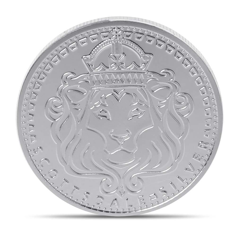 Roboco Commemorative Coins,Scottsdale Lions King and Cross Commemorative Coins Collection Souvenir Gift