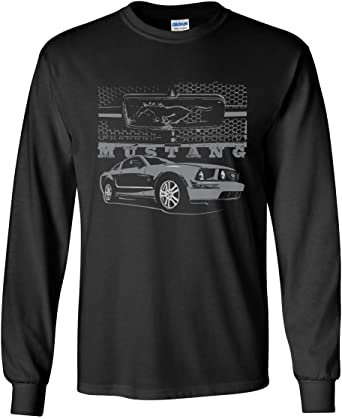 Ladies Longer Length T-shirt Ford Mustang Legend Honeycomb Grille