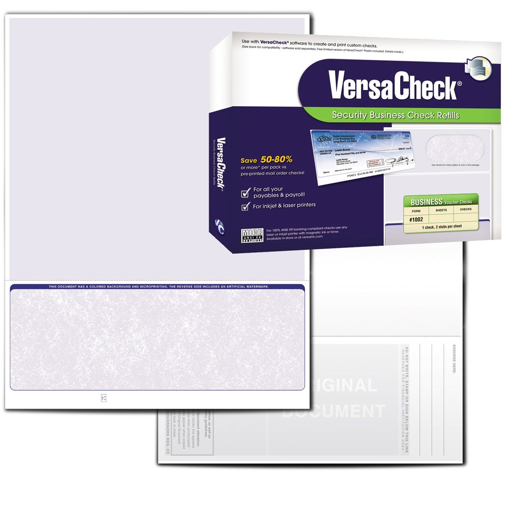 Amazon.com : VersaCheck Security Business Check Refills: Form ...