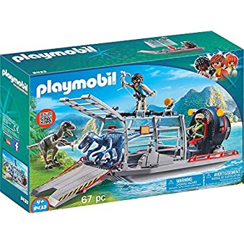 8dd3c1c734c Amazon.com  PLAYMOBIL Enemy Airboat with Raptor Building Set  Toys ...