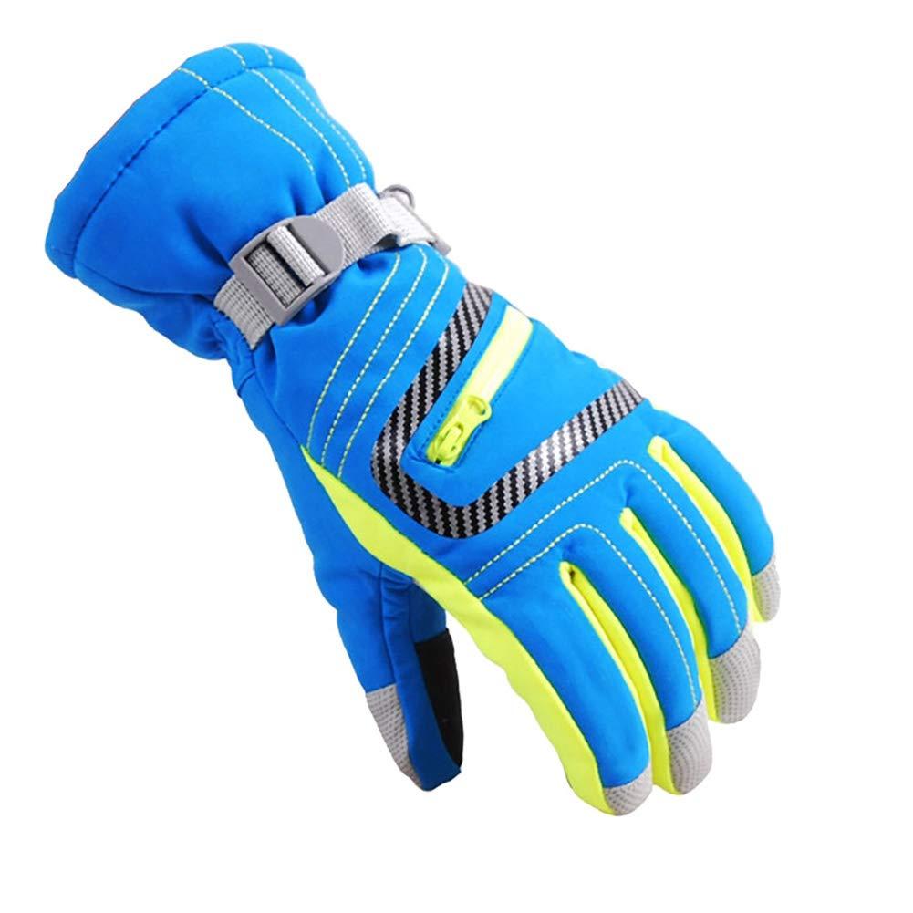 Leezo Winter Warme Handschuhe Wasserdichte Ski Snowboard Handschuhe Vollfinger Dicke Thermal Winddicht Handschutz für Unisex Erwachsene Kinder Kinder