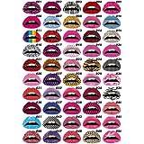 10pcs Lips Sticker Art Temporary Tattoos - Random Styles