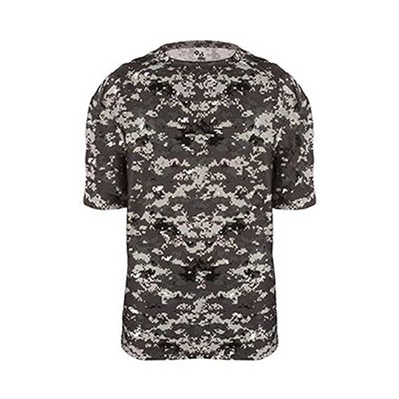 Mizuno Youth X-Large Digi Camo Tee Shirt New Dry Fit Moisture Management Black