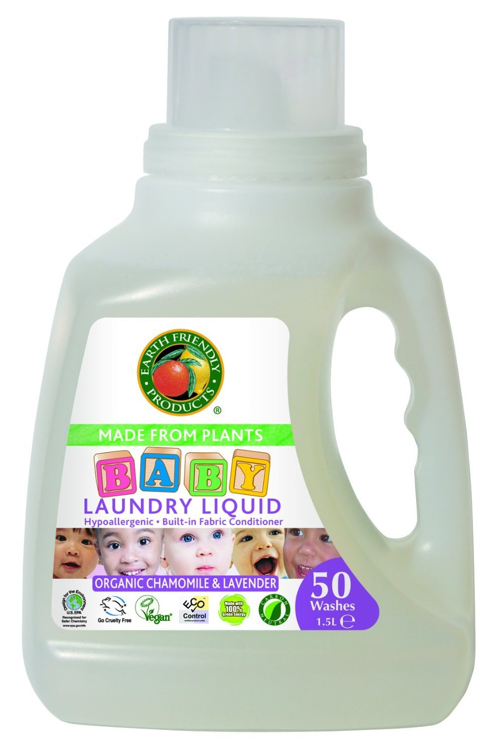 (3 PACK) - Earth Friendly Products - Baby Laundry Liquid | 1500ml | 3 PACK BUNDLE