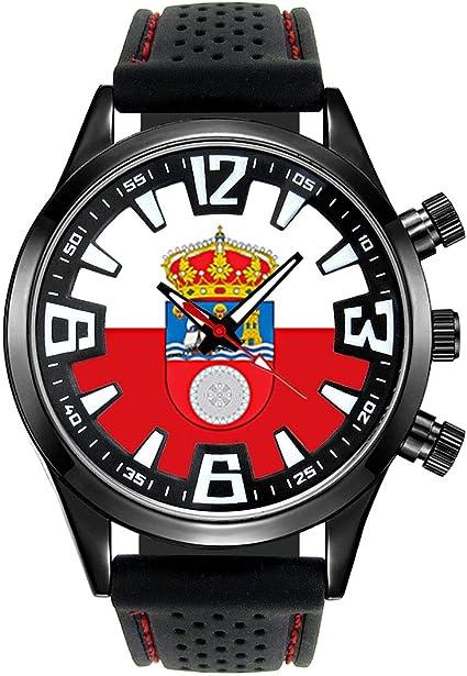 Timest - Bandera de Cantabria España - Reloj para Hombre con ...