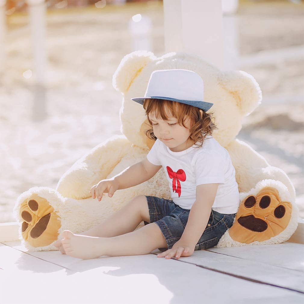 Custom Baby /& Toddler T-Shirt Red Bow Cotton Boy /& Girl Clothes