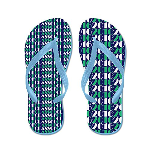CafePress Class Of 2016 Stacked - Flip Flops, Funny Thong Sandals, Beach Sandals Caribbean Blue