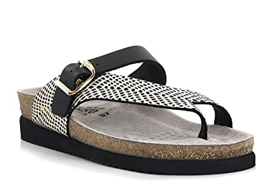be92e0b640 Mephisto Womens Helen Cuba Black/Gold Strap Over Toe Loop Sandals EU ...