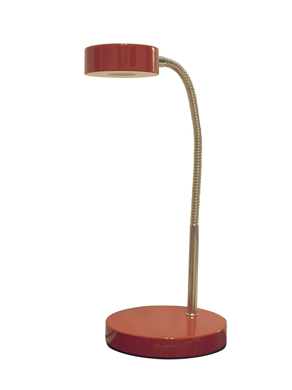 Desk Lamp LED Office Dorm Study School Bedside Bulb Lamps Home Work Modern Light Red