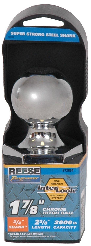 Reese Towpower 72804 Chrome Interlock 1-7/8' Hitch Ball