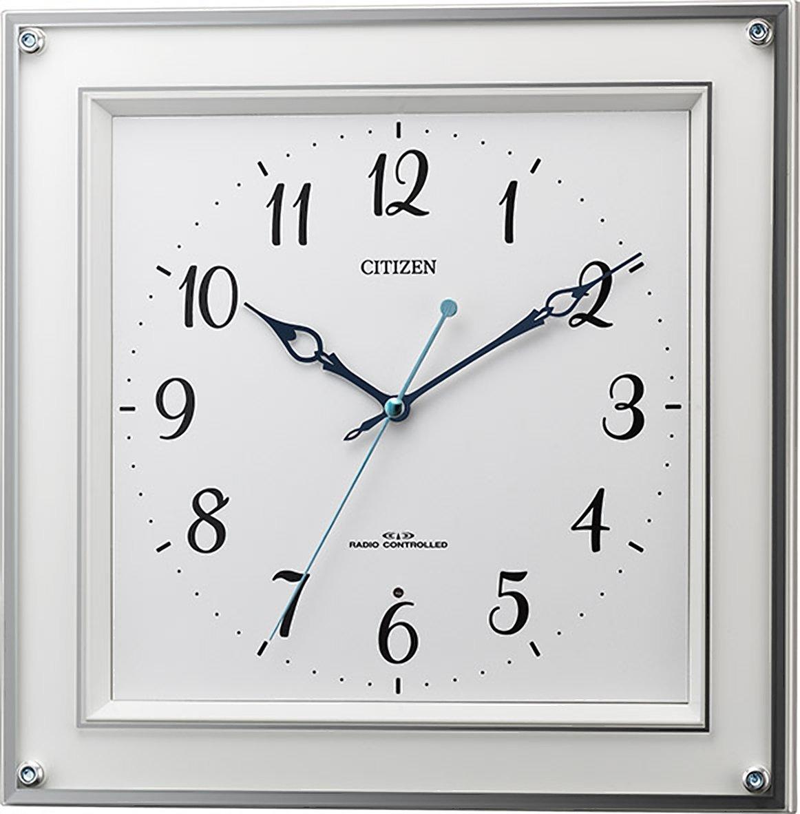 シチズン 掛け時計 電波 アナログ M519 連続秒針 クリスタル 飾り付き 白 CITIZEN 8MY519-003 B01MRX8OK8