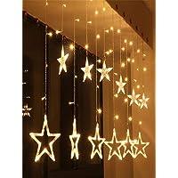 2.5M LED أضواء سلسلة الجنية الخماسية شكل نجمة أضواء الستار رمضان هدية