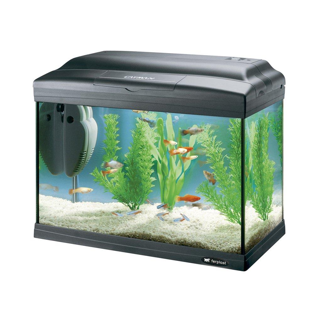 Ferplast 65040017 Cayman 40 Classic Aquarium, 41.5 x 21.5 x 34 cm, 21 L, schwarz