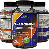 L-Arginine Supplement with L-Citrulline Amino Acid – Boost Exercise Performance and Stamina – Natural Muscle Builder Supports Improves Recovery and Supports Heart Health 60 Capsules by Biogreen Labs