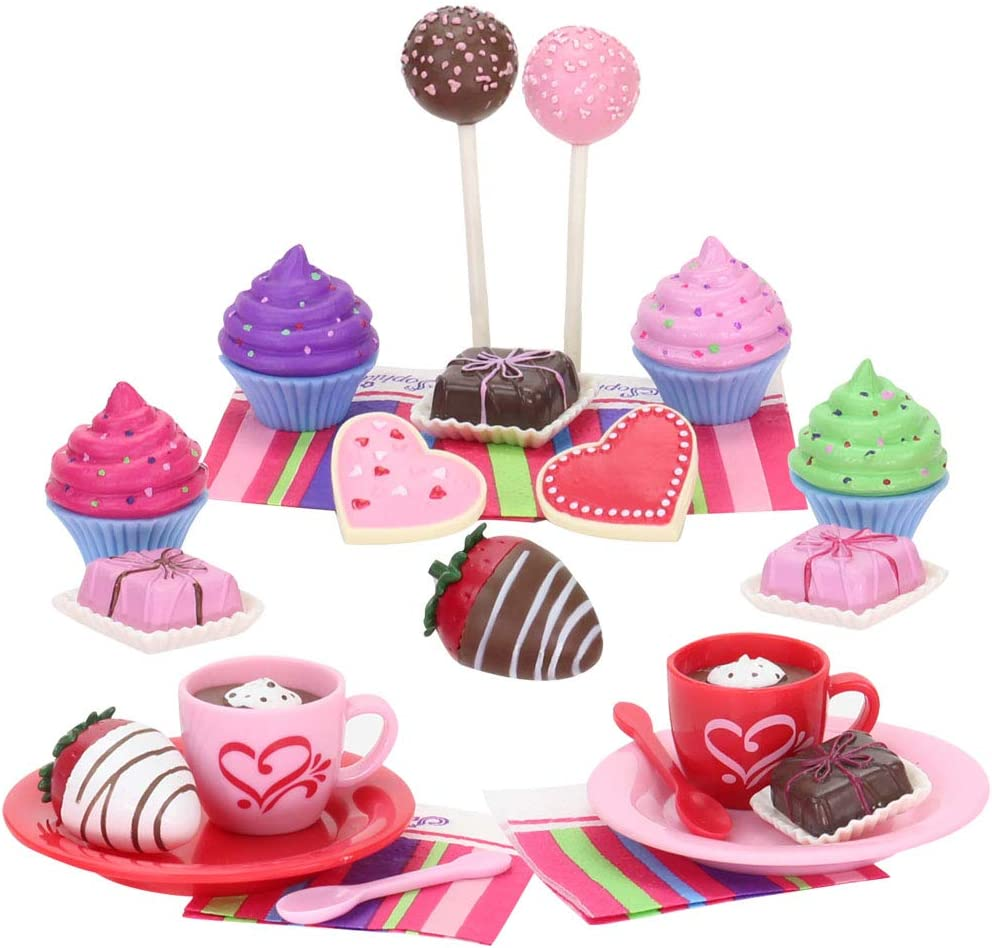 Sophia's Doll Sized Treats Playset with Hot Cocoa, Cake Pops, Cupcakes, Cookies and More 18 Inch Doll Accessory Food