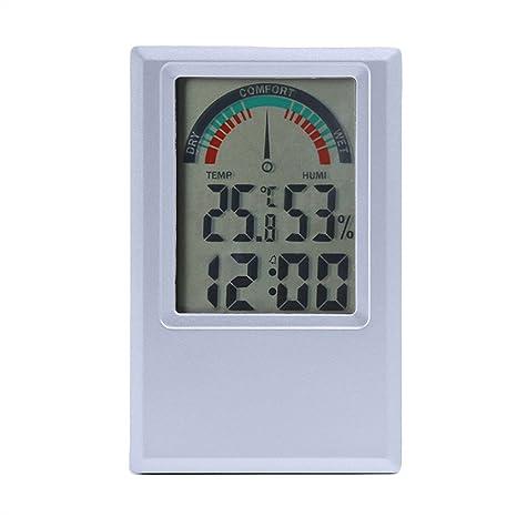 Topker ° C / ° F Termómetro digital Higrómetro Temperatura Medidor de humedad Reloj de alarma