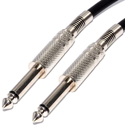 Pulse 6,35 mm Bajo Ruido Guitarra Cable Níquel Conectores Naranja Cable 5 m: Amazon.es: Electrónica
