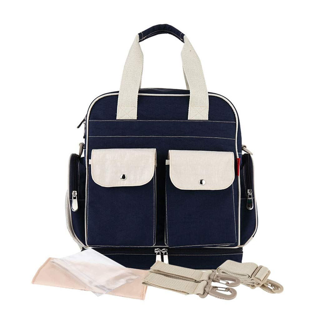 Stroller Organizer Stroller Organizer Bag Diaper Bag Waterproof Travel Backpack for Baby Care, Large Capacity Parents Stroller Organizer Bag (Color : Navy, Size : Free Size)