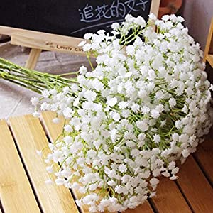 1Pcs Baby Breath/Gypsophila Artificial Fake Silk Plants Wedding Party Decoration Real Touch Flowers DIY Home Garden 90